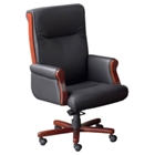 Conference Chair with Wood Trim, 52294