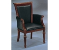 Leather Guest Chair with Wood Frame, 55486