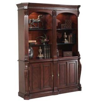 Old-World Double-Sided Storage Bookcase, 32872