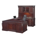 Old-World Right Bridge U-Desk with Hutch, 13100