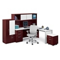L-Desk Office Suite with Glass Accents, 86022