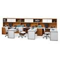 Set of Three L-Desks with Hutches, 86024