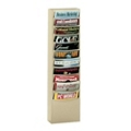 Wallmount Literature Rack with 11 Magazine Pockets, 33042