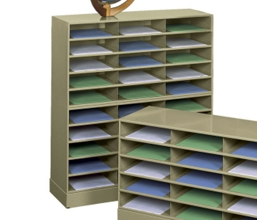 Steel 30 Pocket Literature Organizer with Base, 33287