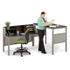 "42""H Standing Height L Desk, CD04986"