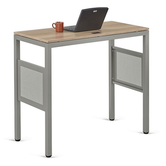 "At Work Standing Height Desk in Warm Ash - 48""W x 24""D, 13894"