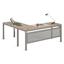 "At Work L-Desk in Warm Ash - 72""W x 72""D, 13902"