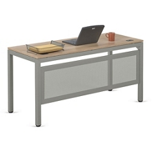 "At Work Table Desk with Modesty Panel in Warm Ash - 72""W x 30""D, 13903"