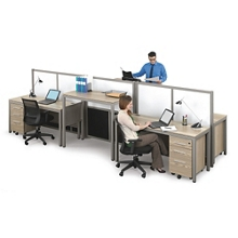 At Work Four Person Station with Dividers, 13973