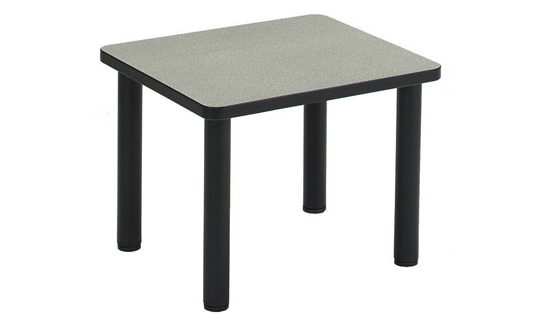 End Table with Black Metal Frame, 53880