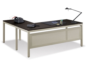 "At Work 72""W x 72""D Reversible L-Desk, 13280"