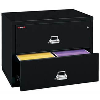 "Lateral Fireproof File with Two Drawers 31""W, 30419"