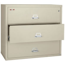 """Three Drawer Fireproof Lateral File - 44""""W, 30166"""