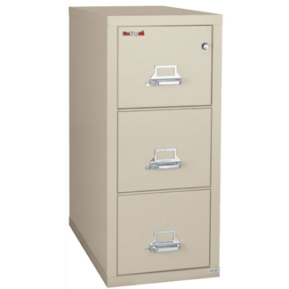 "Three Drawer Fireproof Letter Size Vertical File - 31""D, 34141"