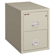 """Two Drawer Fireproof Legal Size Vertical File - 25""""D, 34143"""