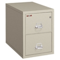 "Two Drawer Fireproof Letter Size Vertical File - 25""D, 34138"