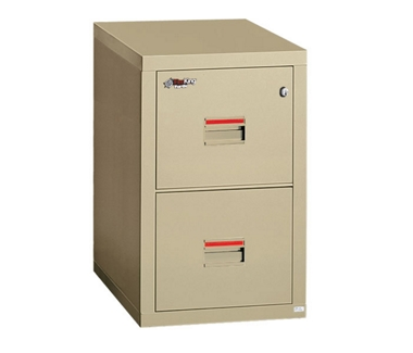 "Compact Two Drawer Vertical Fireproof File - 22""D, 34157"