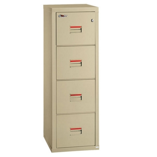 "Compact Four Drawer Vertical Fireproof File - 22""D, 34158"
