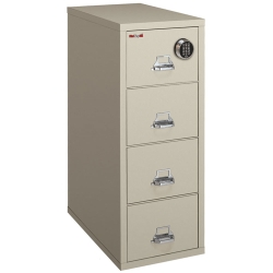 Fireproof Legal Vetical File with Four Drawers and Electronic Lock, 34313