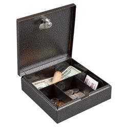 Lockable Four Compartment Compact Cash Box, 36383