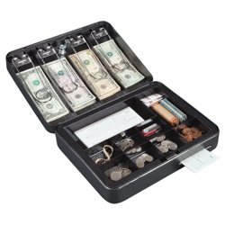 Lockable Custom Cash Box, 36384