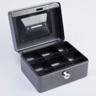 Lockable Six Compartment Coin Box, 36385