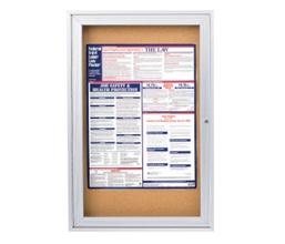 "Aluminum Frame Corkboard - 24"" x 36"", 80111"