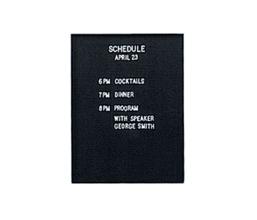 Felt Letter Panel for Enclosed Corkboard, 80126
