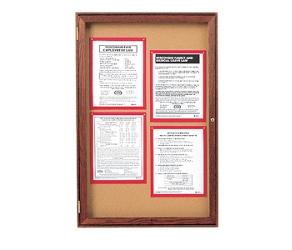 "Wood Frame Corkboard - 18""W x 24""H, 80128"