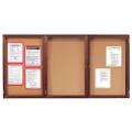 "Wood Frame Corkboard - 72""W x 48""H, 80133"