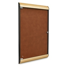 Enclosed Tackboard with Wood Frame, 80357
