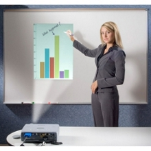 5' W x 4' H Porcelain Multimedia Projection Board, 80537