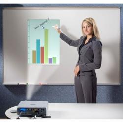 5' W x 4' H Porcelain Multimedia Projection Board, 80537