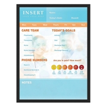 """Patient Whiteboard with Black Frame - 24"""" x 36"""", 80299"""