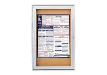 "Indoor Satin Aluminum Bulletin Board 30""x36"", 80738"