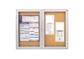 "Indoor Satin Aluminum Bulletin Board 60""x48"", 80740"