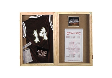 "Indoor Oak Bulletin Board 48""x36"", 80757"