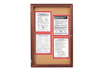 "Indoor Walnut Stain Bulletin Board 30""x36"", 80763"