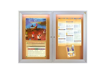 "Bulletin Board with Light 48"" x 36"", 80966"