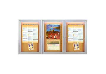 "Bulletin Board with Light 72"" x 36"", 80968"