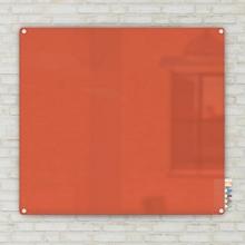 4' W x 4' H Radius Corner Glass Board, 80498