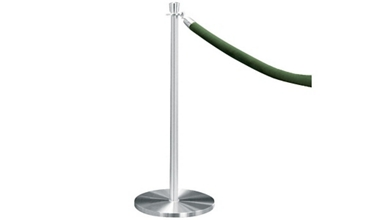 Crowd Control Post In Satin Aluminum, 85024