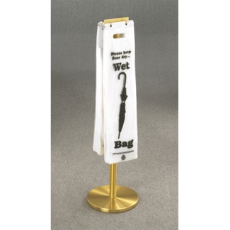 Satin Brass Umbrella Bag Holder, 87164