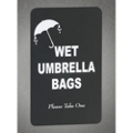 Wet Umbrella Bags Sign, 87168