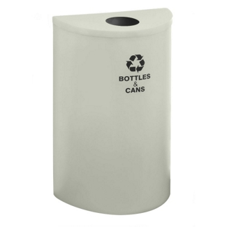 Half Round Bottles and Cans Receptacle with Steel Liner, 87171