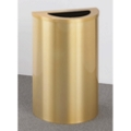 Satin Brass Half Round Waste Receptacle with Steel Liner, 87183