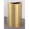 Satin Brass Half Round Waste Receptacle with Steel Liner, 87183