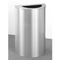 Satin Aluminum Half Round Waste Receptacle with Steel Liner, 87184