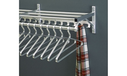 "Coat Rack with Shelf and Extra Hooks 54"" Long, 92121"