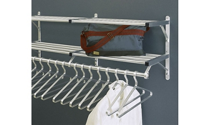 "Coat Rack with 2 Shelves and Extra Hooks 30"" Long, 92130"